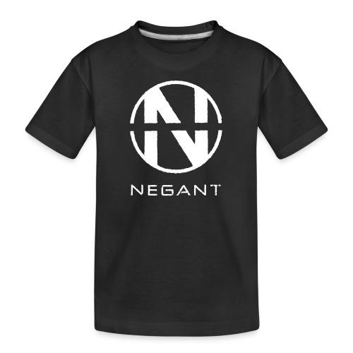 White Negant logo - Teenager premium T-shirt økologisk
