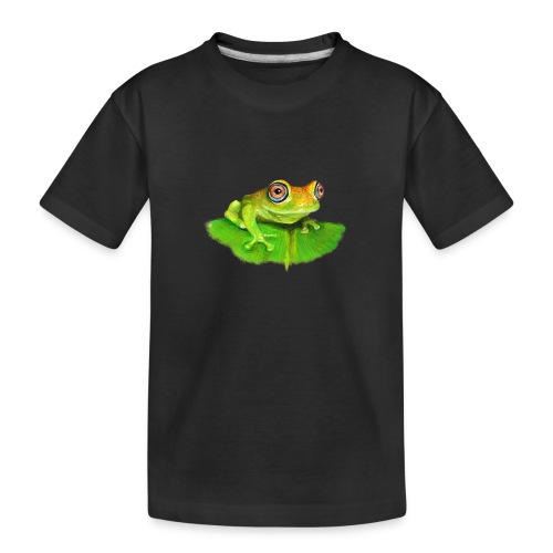 Frosch aus Madagaskar - Teenager Premium Bio T-Shirt