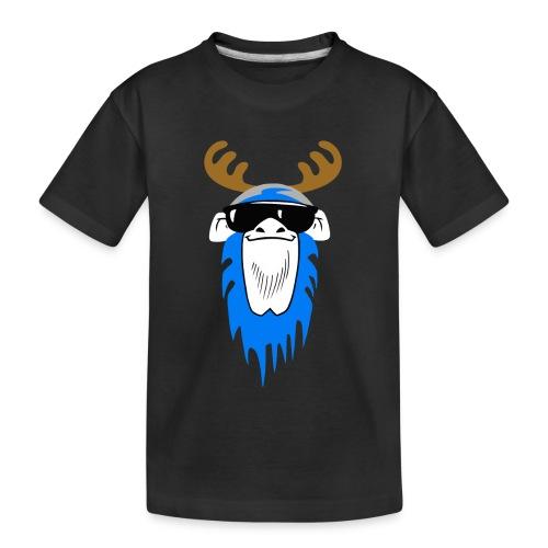 Bavarian Monkey Portrait mit Geweih - Teenager Premium Bio T-Shirt