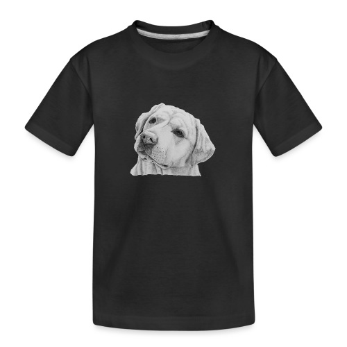 labrador retriever yellow - head - Teenager premium T-shirt økologisk