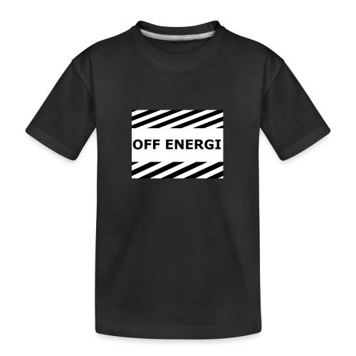 OFF ENERGI officiel merch - Ekologisk premium-T-shirt tonåring