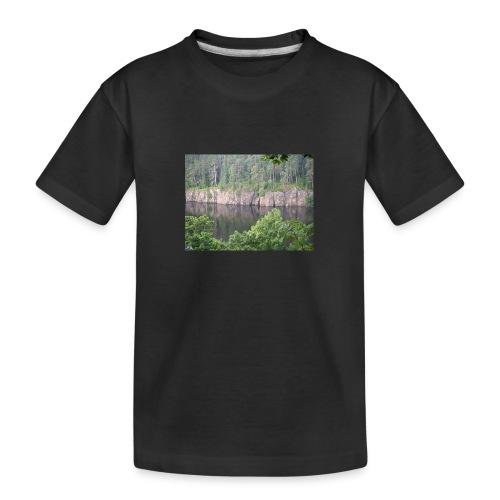 Laatokan maisemissa - Teinien premium luomu-t-paita