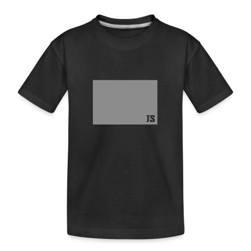 JustSquares Grijs - Teenager premium biologisch T-shirt