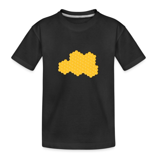 Bienenwabe - Teenager Premium Bio T-Shirt