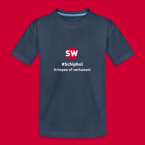 #Schiphol - krimpen of verhuizen! - Teenager premium biologisch T-shirt