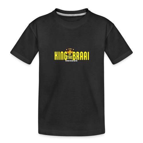 KING OF THE BRAAI - Teenager premium biologisch T-shirt