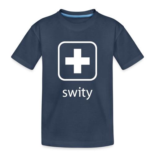 Schweizerkreuz-Kappe (swity) - Teenager Premium Bio T-Shirt