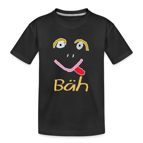 Gesicht Baeh Kontur Hell - Teenager Premium Bio T-Shirt