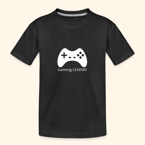 Gaming LEGEND - Teenager premium biologisch T-shirt
