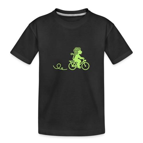 Züri-Leu beim Velofahren ohne Text - Teenager Premium Bio T-Shirt