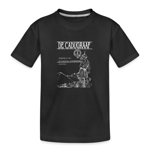 cadugraaf wit - Teenager premium biologisch T-shirt
