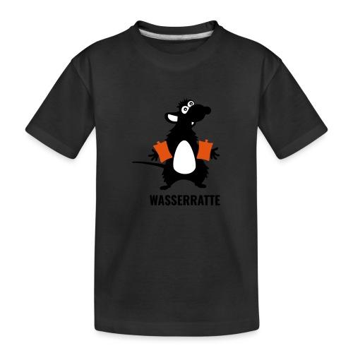 Wasserratte mit Schwimmflügeln - Teenager Premium Bio T-Shirt