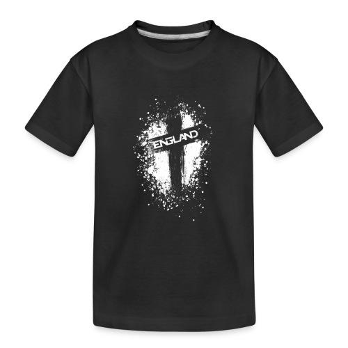 England Painted-White - Teenager Premium Organic T-Shirt