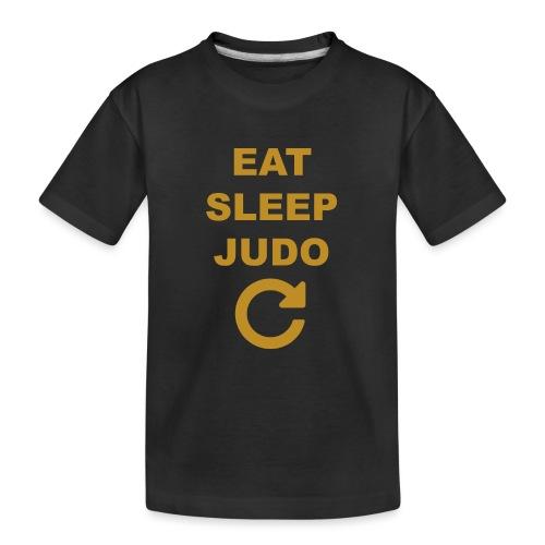 Eat sleep Judo repeat - Ekologiczna koszulka młodzieżowa Premium