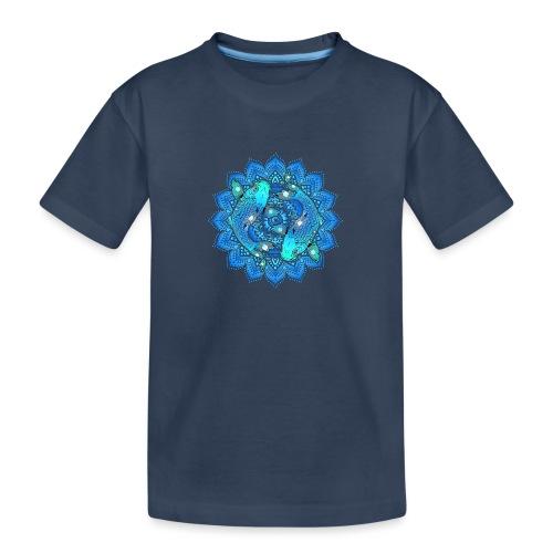 Asian Pond Carp - Koi Fish Mandala 1 - Teenager Premium Bio T-Shirt
