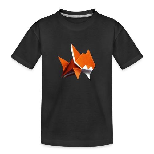 Jumping Cat Origami - Cat - Gato - Katze - Gatto - Teenager Premium Organic T-Shirt