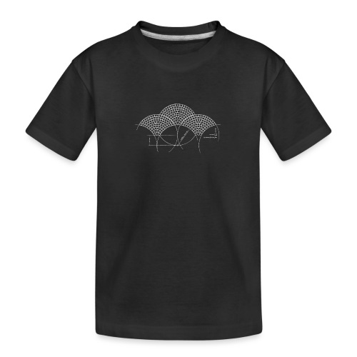 European Fan White - Teenager premium biologisch T-shirt