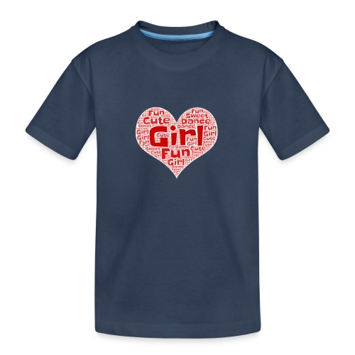 Girl heart - Teenager premium biologisch T-shirt