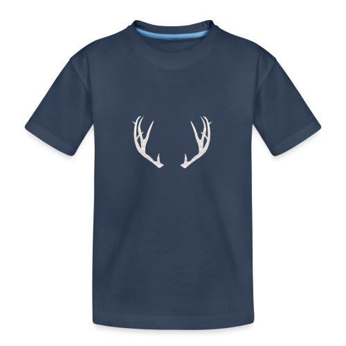 Jäiset poronsarvet - Teinien premium luomu-t-paita