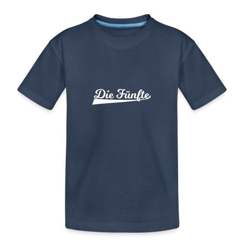 Die Fünfte Retro - Weiß - Teenager Premium Bio T-Shirt