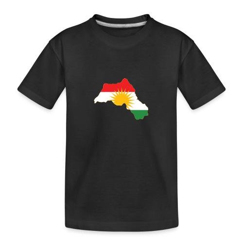 Kurdistan Flag Map - Teenager Premium Bio T-Shirt