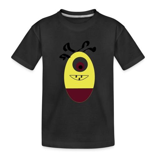 Gult æg - Teenager premium T-shirt økologisk