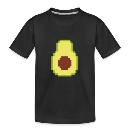 Pixel avocado - Teenager Premium Organic T-Shirt