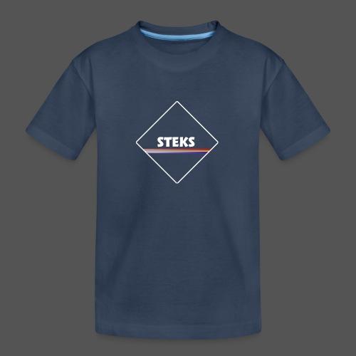 3Color STEKS™ Logo - Teenager premium biologisch T-shirt
