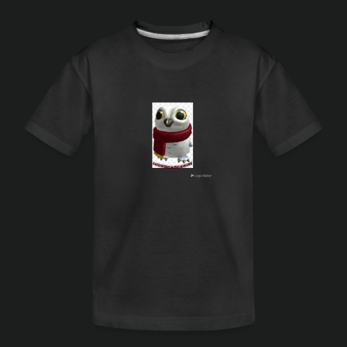 Merch white snow owl - Teenager premium biologisch T-shirt