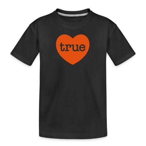 TRUE LOVE Heart - Teenager Premium Organic T-Shirt
