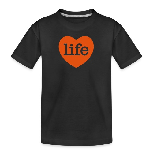 LOVE LIFE heart - Teenager Premium Organic T-Shirt