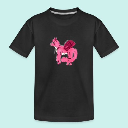 pink_cat_ei_taustaa - Teinien premium luomu-t-paita
