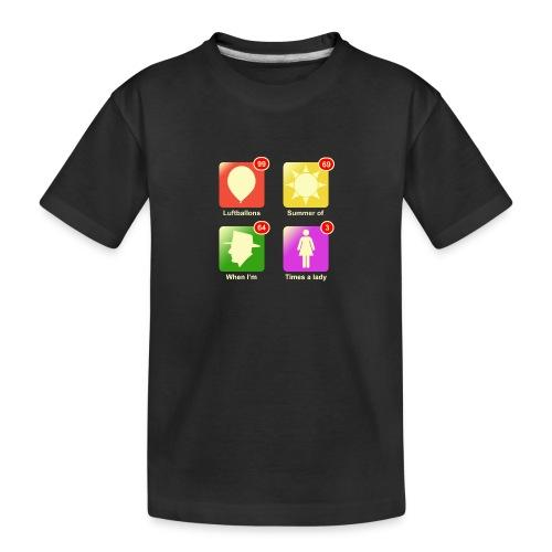 Muziek apps - Teenager premium biologisch T-shirt