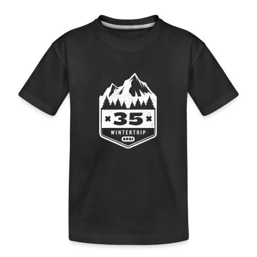 35 ✕ WINTERTRIP ✕ 2021 - Teenager premium biologisch T-shirt