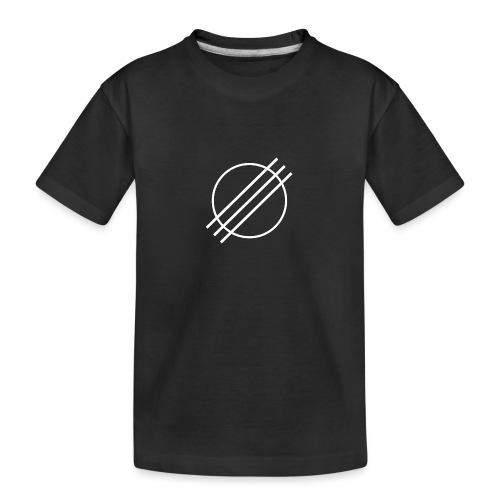 DJ Øyvind Offisiell Logo (hvit) - Premium økologisk T-skjorte for tenåringer