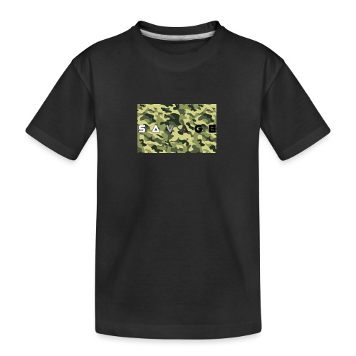 savage camo premium - Teenager Premium Bio T-Shirt