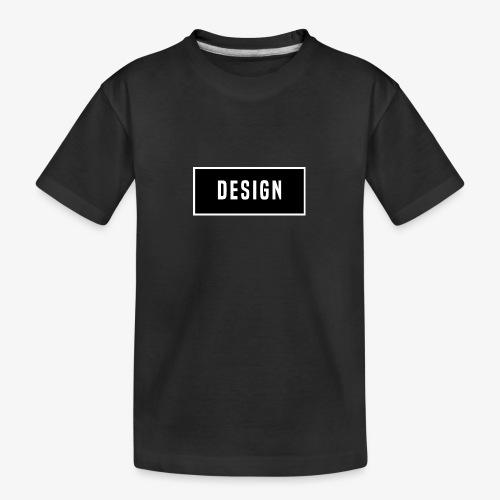design logo - Teenager premium biologisch T-shirt