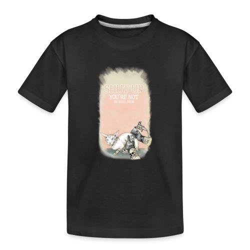 tätowierte Katze - Teenager Premium Bio T-Shirt