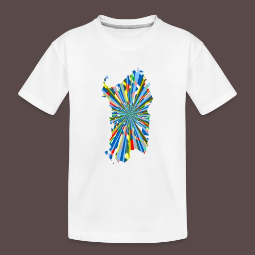 Sardegna Esplosione di Colori - Maglietta ecologica premium per ragazzi