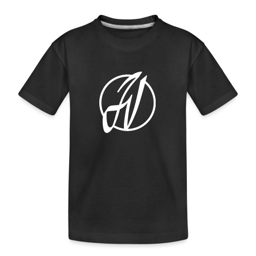 JV Guitars - logo blanc - T-shirt bio Premium Ado