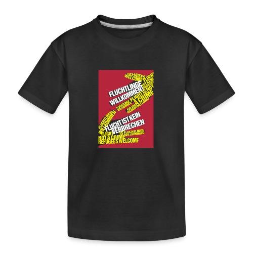 Flüchtlinge Willkommen r - Teenager Premium Bio T-Shirt