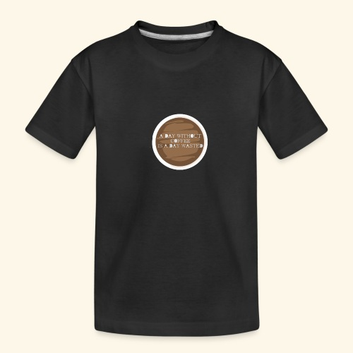 coffee - Ekologisk premium-T-shirt tonåring