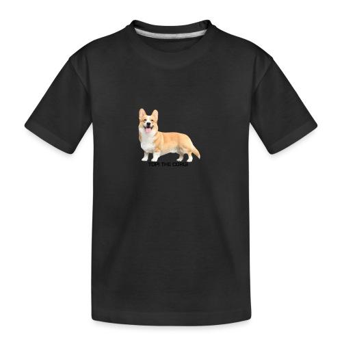 Topi the Corgi - Black text - Teenager Premium Organic T-Shirt