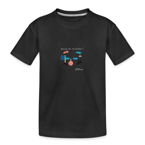 Azia Drum White - Teenager Premium Organic T-Shirt