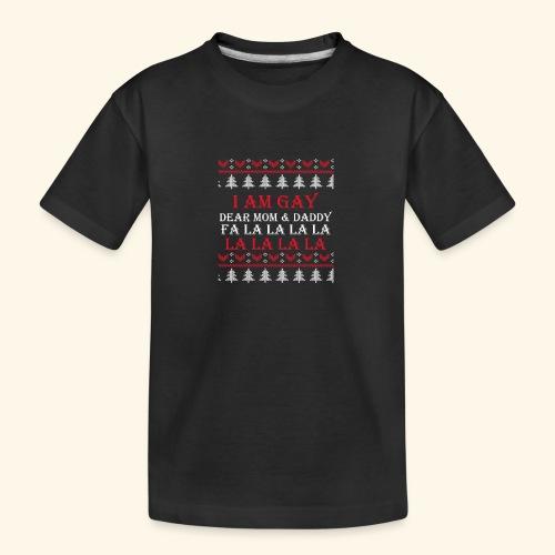 Gay Christmas sweater - Ekologiczna koszulka młodzieżowa Premium