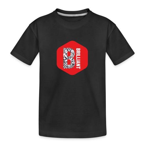 B brilliant red - Teenager premium biologisch T-shirt