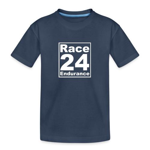 Race24 Logo - White - Teenager Premium Organic T-Shirt