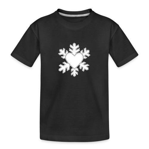 Flocon coeur 3D - T-shirt bio Premium Ado
