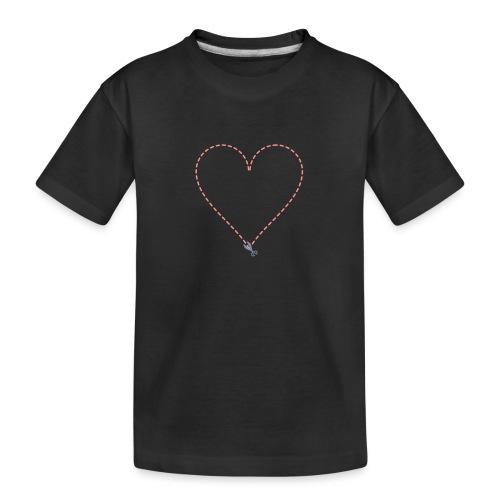 Coeur à découper - T-shirt bio Premium Ado