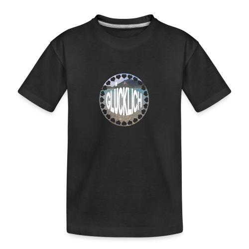 LIMITED GLÜCKLICH Schriftzug - Teenager Premium Bio T-Shirt